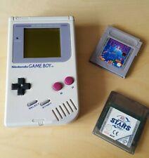 Nintendo Game Boy Classic Konsole (DMG-01) - Grau - Retro mit 2 Spielen