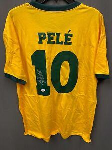 Pele #10 Signed Brazil Soccer Jersey Autographed AUTO PSA/DNA COA Sz XL