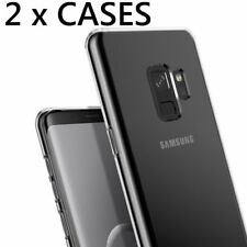 2 x Pieces - Transparent Clear TPU Rubber Skin Case Cover for SAMSUNG GALAXY S9