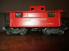 """LIONEL NO.2457 PRR N5-TYPE CABOOSE """"477618"""", TINTYPE, c.1945-47/RED"""