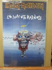 Vintage Post IRON MAIDEN Can i play with madness  rock heavy metal 1988 Inv#G761