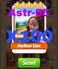 Coin Master Cards 100x Mellow Lisa Fast Delivery