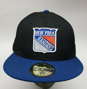 New Era 59fifty New York Rangers Sz 7-5/8 Fitted Wool cap hat NHL Hockey