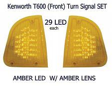 Kenworth T600 Turn Signal Set (L/H & R/H) Amber/Amber   Semi Truck Fender