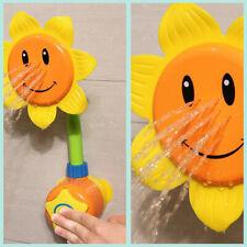 Baby Bath Toy Children Sunflower Spray Water Shower Tub Faucet Kids Bathroom LA3