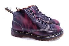 Dr. Martens Doc England Rare Vintage Burgundy Ruboff Monkey Boots UK 9 US 10