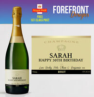 Personalised Champagne bottle label, Perfect Birthday/Wedding/Anniversary Gift