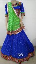 Indian Navratri Special Garbha Chaniya Choli Chiffon Lehenga Embroidery Work