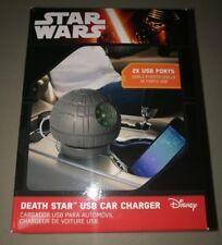 ** Star Wars Estrella De La Muerte Coche Auto Cargador USB **!! nuevo!!!
