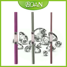 3PCs/Set 6 Sizes Perfect C Curve Nail Art Rod Stick Crystal Rhinestone Handle