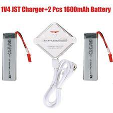 2xWalkera QR Y100 RC Drone 3.7v 1600mAh 20c Li-Po Battery QR Y100-Z-15+JST Charg
