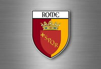 Sticker decal souvenir car coat of arms shield city flag rome italy