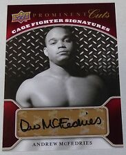 Drew McFedries Signed 2009 Upper Deck Prominent Cuts Cage Fighter Card UFC Auto