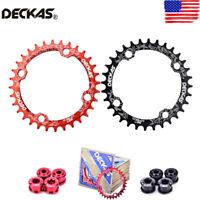 DECKAS 32/34/36/38T Single Chainwheel 104bcd MTB Bike Round/Oval CNC Chainring