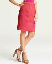 Brand New Ann Taylor Exotic Paisley Handkerchief Skirt Color Red Size 2