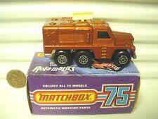 Lesney Matchbox MB16 Bronze Badger Truck Lite Grey 4Line Base Cream Antennae MiB