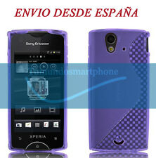 Cover TPU Gel Purple Sony Ericsson Xperia Ray St18i Model S LINE