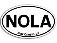 3x5 inch Oval NOLA New Orleans LA Sticker - decal city bumper louisiana saints