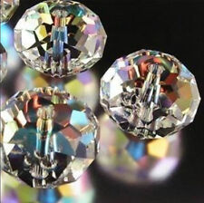 1000pcs 3x4mm Clear +AB Crystal Faceted Gems Loose Beads 5040