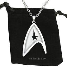 Star Trek Brushed Steel NECKLACE Pendant Communicator Darkness Starfleet Command