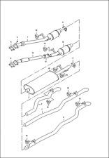 GENUINE VW LT28 -LT4X4 2.8 MIDDLE EXHAUST MUFFLER BOX 2D0253409L