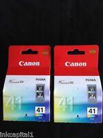 Canon 2x cl-41, CL41 COLOR ORIGINAL OEM Pixma Cartuchos de inyección de tinta