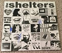 THE SHELTERS BAND SIGNED AUTOGRAPH SELF TITLED VINYL RECORD ALBUM w/EXACT PROOF