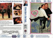 WHEN HARRY MET SALLY-Crystal &Ryan-VHS -PAL-NEW-Never played-Original Oz release