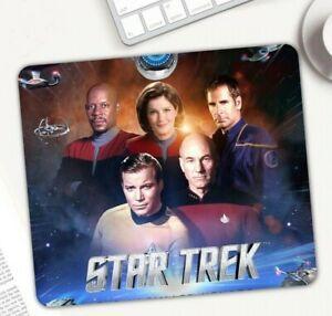 Star Trek captains mouse mat 220 x 180 x 2mm