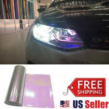 "12""x84"" Chameleon Neo Pearl Headlight Taillight Fog Tint Film Wrap Sheet Gloss"