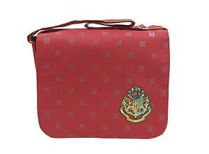 Harry Potter Hogwarts Crest Burgundy Children's Messenger Courier School Bag