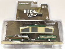 Greenlight 1/64 1981 Ford LTD Country Squire Pop-Up Camper Trailer Chase 32160C