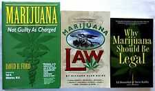 Lot of 3 Books  MARIJUANA Law and Legal Aspects of Cannabis FREE SHIPPING