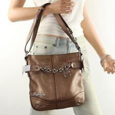 🌺🌺NWT Coach Leather Chain Shoulder Bag Crossbody Duffle F19722 Copper New🌺🌺