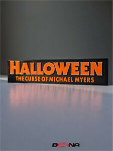 Decorative HALLOWEEN 6 self standing logo display THE CURSE OF MICHAEL MYERS