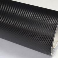 Auto Car Wall Multicolor DIY 3D Carbon Fiber Wrap Paper Vinyl Film Black Sticker