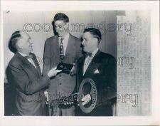 1953 Basketball Player Bevo Francis Receives Key to Wellsville Ohio Press Photo