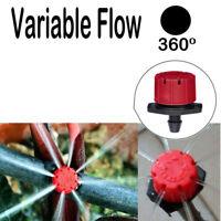 100Pcs Flow Water Irrigation Drip Drippers Sprinkler Emitter System Adjustable