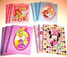Disney Spiral 3 Notebook LOT: Disney Princess Palace PETS/Minnie Mouse Bow-tique