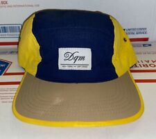 Dqm Navy Blue yellow 5 panel Nylon Camp Cap hat Skateboards GIRL Supreme huf dgk