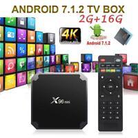 X96 Mini TV Box 4K Media Player Android 7.1.2 S905W Quad Core WiFi HD 2GB + 16GB