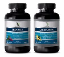 Immune support capsules - GRAPE SEED EXTRACT – KOREAN GINSENG COMBO - ginseng