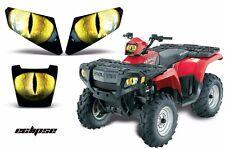 AMR Racing Polaris Sportsman 500 Headlight Eyes Decal Stickers 05-10 ECLIPSE YLW
