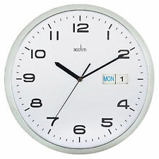 Acctim Supervisor Day Date Wall Clock 21027