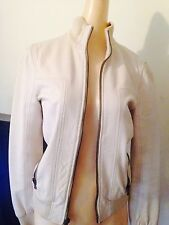 Dolce And Gabbana Beige Leather Vintage Jacket Size 36