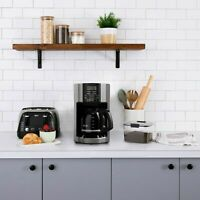 Mr. Coffee 12 Cup Automatic Drip Coffee Maker, Black/Silver