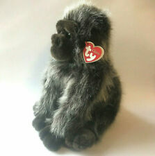 Rumbles RARE 2002 10in Ty Classic Grey Tipped Brown Plush Gorilla 7411