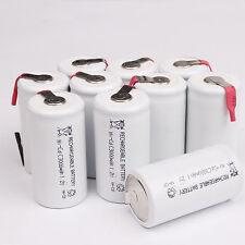 Pro 10pcs White 3000mAh Ni-CD C 1.2V Rechargeable Battery With Tab univerisal