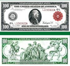 Reproduction US $100 Dollar Bill, Series 1914 Large size with RED seal/Hi-Res