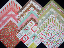 12x12 Scrapbook Paper Cardstock Christmas Holly Jolly Holiday Winter Pebbles 24